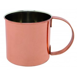MUG WHIT COPPER PLATED 470 ML