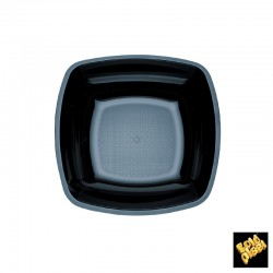DISH SQUARE BOTTOM BLACK 18 CM