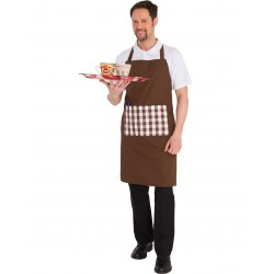BIB APRON WITH BROWN