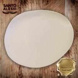Organica Piatto Bianco 32x27 Cm - 3 pezzi