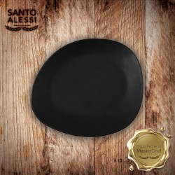 ENTREE PLATE BLACK S.ALESSI