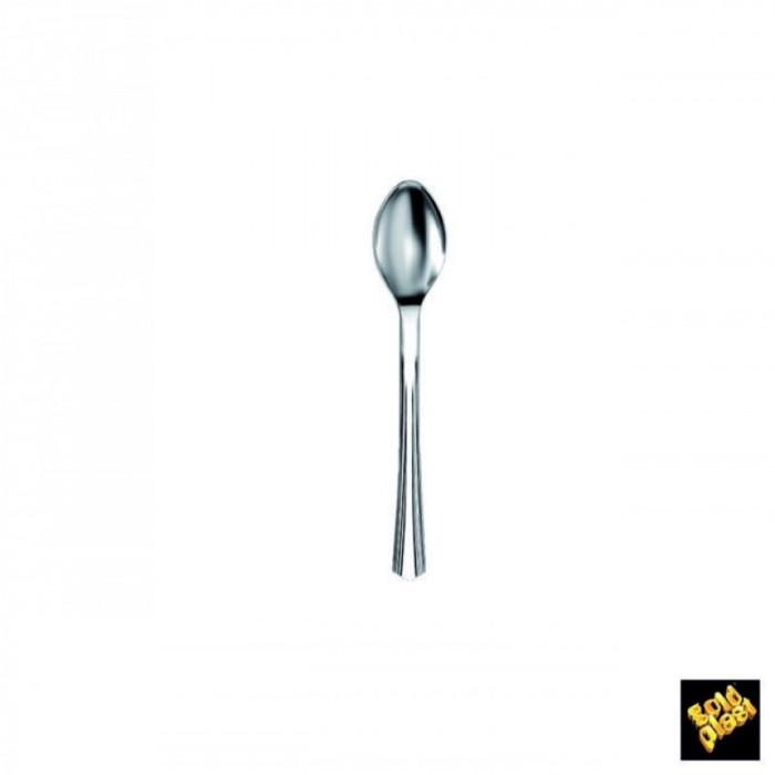 Mini Cucchiaino Plastica Argento 100 pezzi