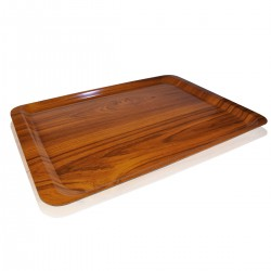 Gold Laminated Tray 53x37 cm.
