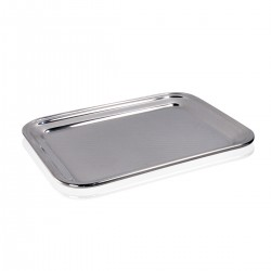 Bar Tray - S/Steel 18/10. 25x19.5 cm.