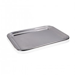 Bar Tray - S/Steel 18/10. 29x22 cm.