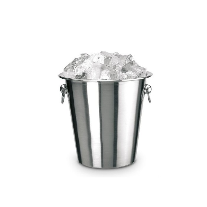 Steel ice bucket 14 cm PIAZZA