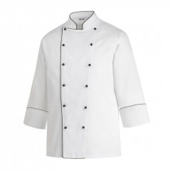 Chef Jacket Black pipping Large Size