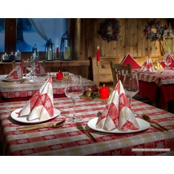 Tablecloth 100x100 TNT Magic Red 20 Tablecloth Ventidue
