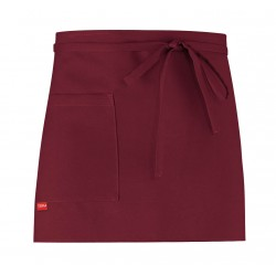 Apron Caffetteria with pocket - bordeaux