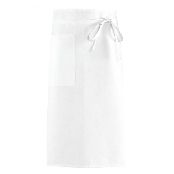 Apron without Bib with pocket - White 2pcs.