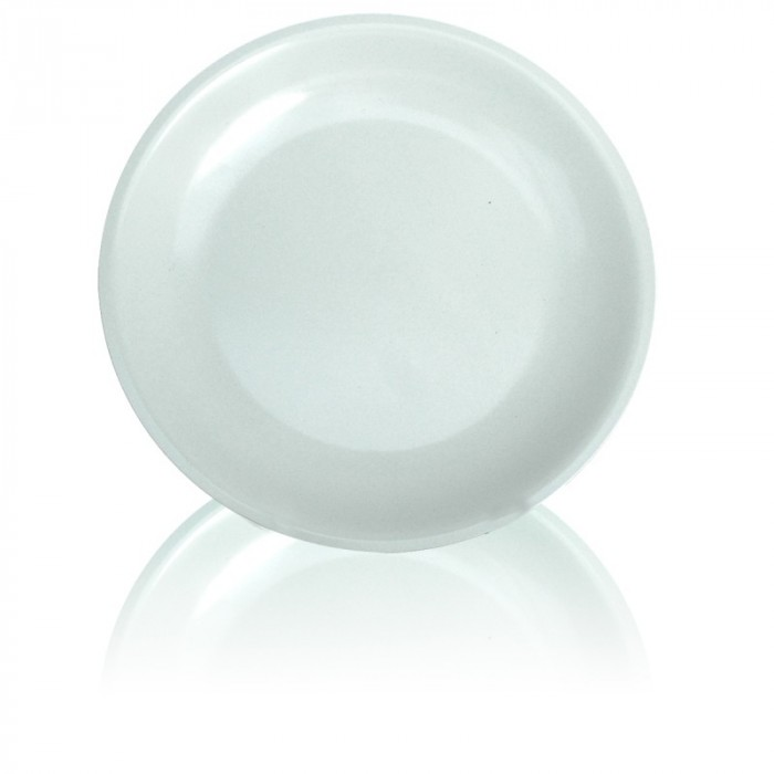 Melamine White Flat Plate 20 cm