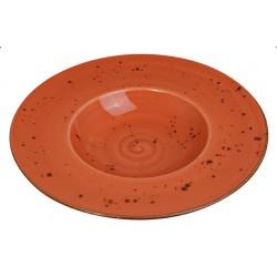 Piatto Pasta Arancio 27 cm 6 pezzi