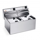 Electric Fryer - Counter top  GN 8+8 Lt. 220V