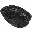 Black Oval Basket 30x20x7 cm