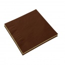 Napkins 40x40 Choccolat/Champagne 4 ply - 50 pcs