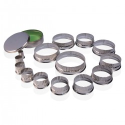 Assorted Tin Pastry Cutters 14 Pcs PIAZZA