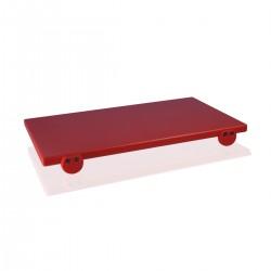 Tagliere polietilene cm. 50x30x2 rosso