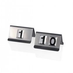 Segnatavolo 1-10 acciaio