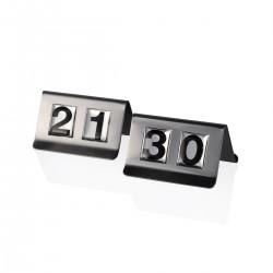 Segnatavolo 21-30 acciaio