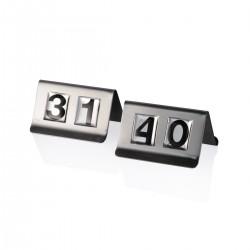 Segnatavolo 31-40 acciaio