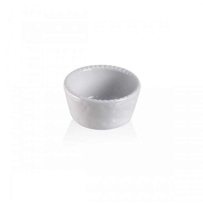Soufflè bianco cordonato 9x5 cm