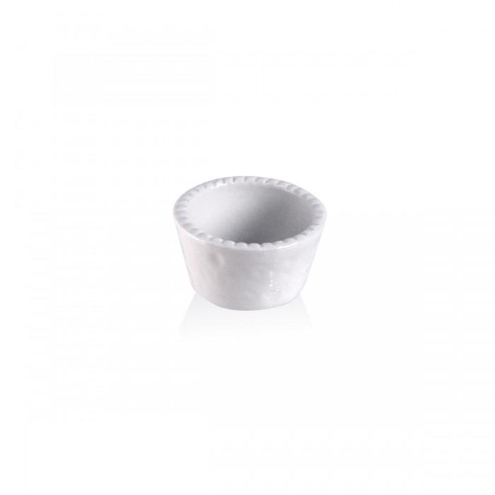 Souffle bianco cordonato 7x4 cm.
