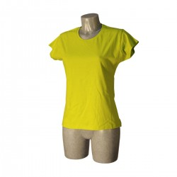 T-shirt Woman LIME GREEN Size S