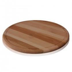 Tagliere Tondo 40 cm legno c/canalina