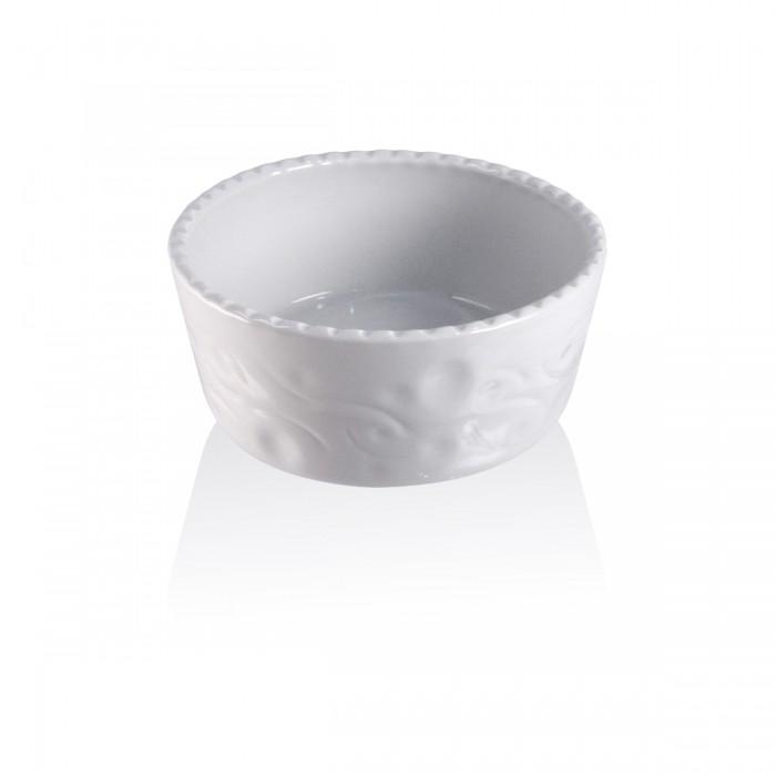 Souffle' bianco cordonato Ø 18 - h 7 cm