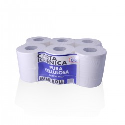 Carta Igienica Mini Roll Pura Cellulosa - conf. 12 pz. -