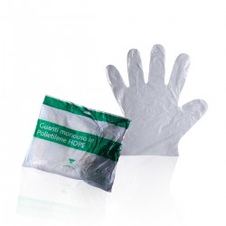 Disposable polyethilene gloves - 100 pcs - One size only -