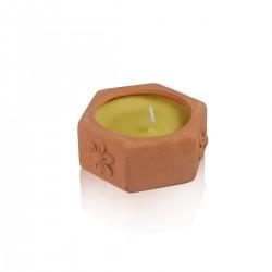 Crockery candle Citronella