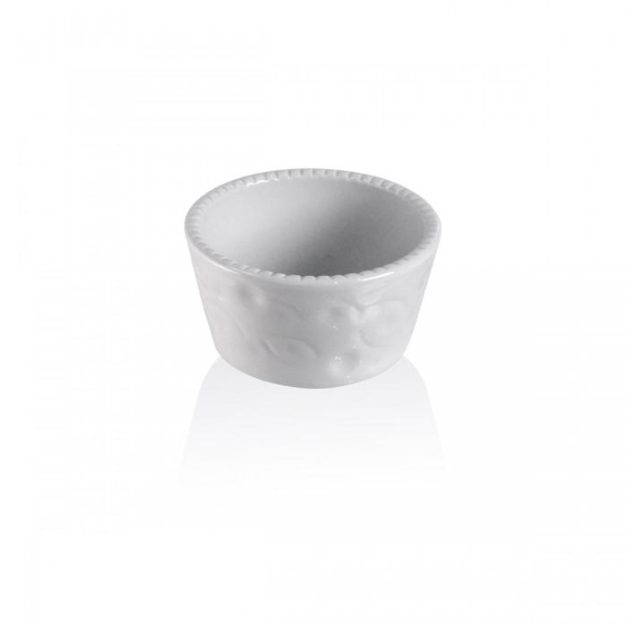Soufflé' bianco cordonato Ø 11 - h 6 cm