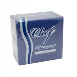 Tovagliolo 40x40 Airlaid Carta a Secco 40gr Blu - 50 tovaglioli