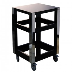 Havana Black Lacquered Cart 50x50x87 Altea 7