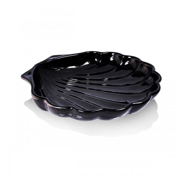 Piatto Conchiglia Nero 24 cm