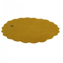 Sottofritti carta gialla ovale 20,5x29