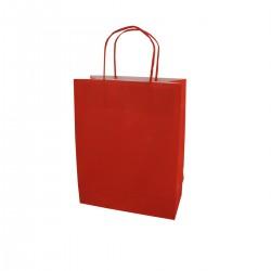 Borsa Carta Rossa 22+10x28