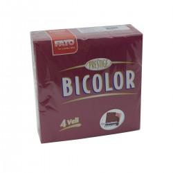 Tovagliolo 40x40 4 veli 2 colori Bordeaux/Rosa-50 tovaglioli