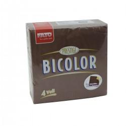 Tovagliolo 40x40 4 veli 2 colori Cioccolato/Champagne 50 tovagli