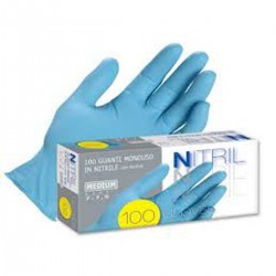 Guanto Nitril s/polvere 100 pzz - Taglia L 8-8,5