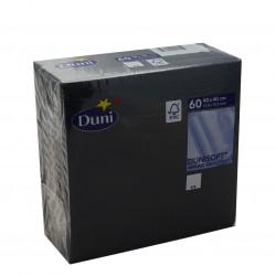 Tovagliolo 40x40 Dunisoft Nero - 60 tovaglioli Duni