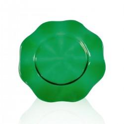 Sottopiatto 34 cm Fiore verde scuro Lux