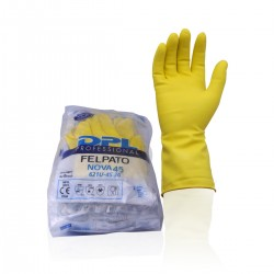 Latex rubber gloves - Size L 8-8,5 -