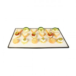 RECTANGULAR TRAY WHITE BLACK