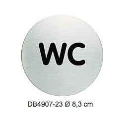 PITTOGRAMMA INOX 8.3 cm WC