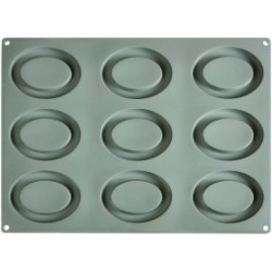 MOLD SILICON 12 FORMS OVAL